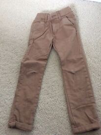 Next boys brown trousers age 5 years