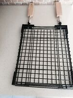 New President Choice Metal Grill Basket with Wooden Handles