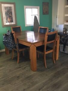 Beautiful solid wood dining table.