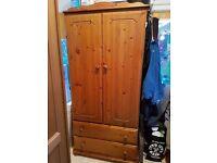 solid wooden wardrobe