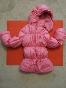 SPRING GIRL'S CHILD JACKET COAT PINK QUILTED PUFFER