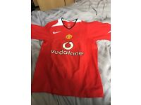 Manchester United rare kit shirt nike size small men's