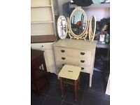 Old dressing table with mirrors