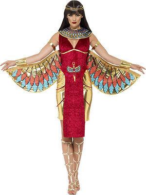 Damen Sexy Isis Ägyptische Göttin Mythisch Mythos Kostüm Kleid Outfit 8-18
