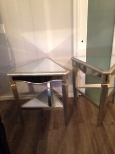 Mirrored end table/nightstand