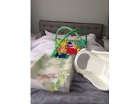 Brand new deluxe change mat, compact deluxe bath and play mat