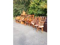 Lots of 40 pub chairs and 13 tables
