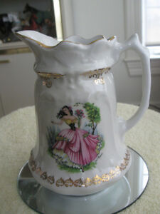 "EXQUISITE OLD VINTAGE MADE-in-ENGLAND ""OLD FOLEY"" CHINA PITCHER"