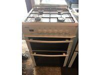 White beko gas cooker 60cm