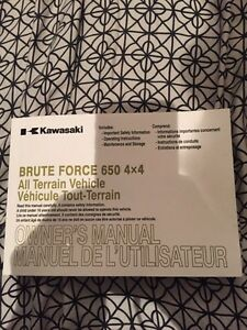 Kawi Brute force 650 owners manual