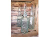 Wedding decorations for sale: Baskets, Jam Jars, Signs, Glass Water Bottles, Candle Holders, Lantern