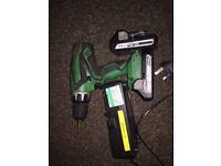 Hitachi combi drill + heat gun + sander