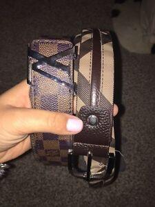 Louis Vuitton & Burberry belts