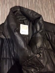 Black Quilted Winter Maternity Coat, XXL London Ontario image 2