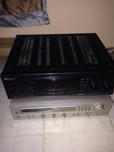 Kenwood and Denon amplifiers