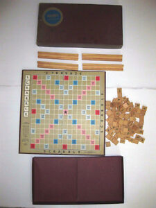 Vintage Scrabble Crossword Game Complete In the Box Selchow & Ri