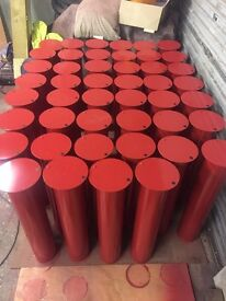 "5"" Upright Covers 750mm long painted"