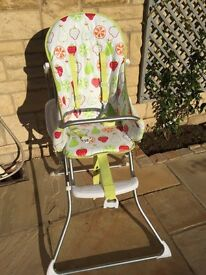 Folding John Lewis high chair. Excellent condition .