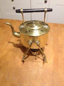 Vintage brass spirit kettle