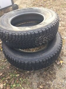 Almost brand new winterforce 16 inch tires
