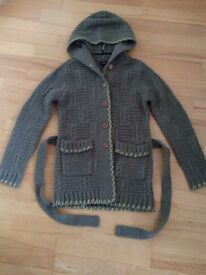 Ladies Hooded Cardigan size small