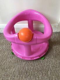 Baby bath seat pink