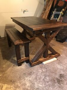 Farmhouse table and bench- custom order