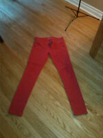 Dynamite Red Jeggings, says size 26 but they fit like 27