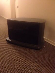 Black tinted glass tv cabinet 20 bucks (portable)