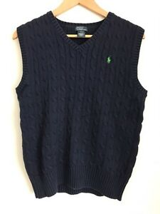 Polo Ralph Lauren sweater vest and long sleeve polo