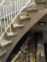 Reparation de balcon,resurfacage de beton,trottoir,fissures etc!