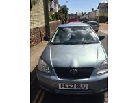 Toyota corolla 2002 1.4 petrol long mot and very low mileage great 1st & very reliable car