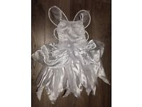 Girls white fairy dressing up age 6-8