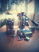La Pavoni Europiccola Cafe Machine and Isomac grinder