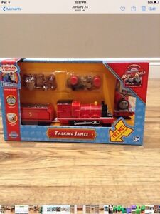 Thomas Trackmaster Talking James/ Flip face  with tracks $25