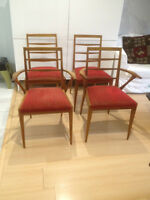 TEAK Mid Century / Vintage / Scandinavian Ladder Chairs