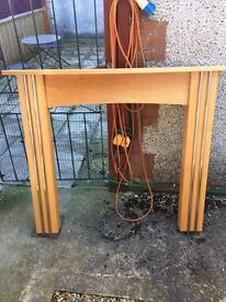 Beech Fire surround with chrome