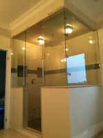 10mm Tempered glass shower door and glass railing