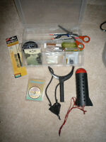 Assorted fishing tackle - Hooks, floats, etc.