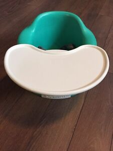 Green/Teal Bumbo chair and tray
