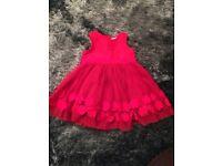 Beautiful girls red Next dress age 3-6 months