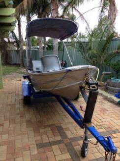 Tinny with Outboard Motor and Trailer Seville Grove Armadale Area Preview