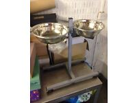 Large Stainless Steel Dual Pet Dining Set 870/6021