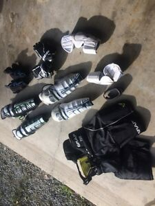 Assortment of Hockey Gear Used for 2 seasons