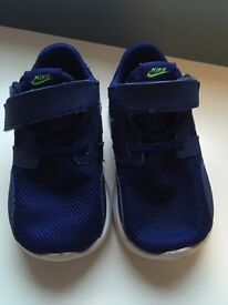 Royal blue infant nike trainers