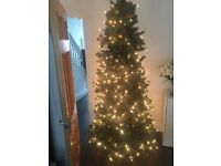 7ft Real Feel Premium Christmas Tree - Pre Lit - Frosted
