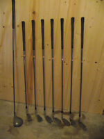 Men's LH set of irons, with 1 wood
