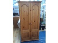 Pine double wardrobe for sale
