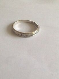 18ct White Gold Eternity Ring 11 Diamonds 0.25ct
