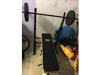 Everlast folding weights bench with 80kg